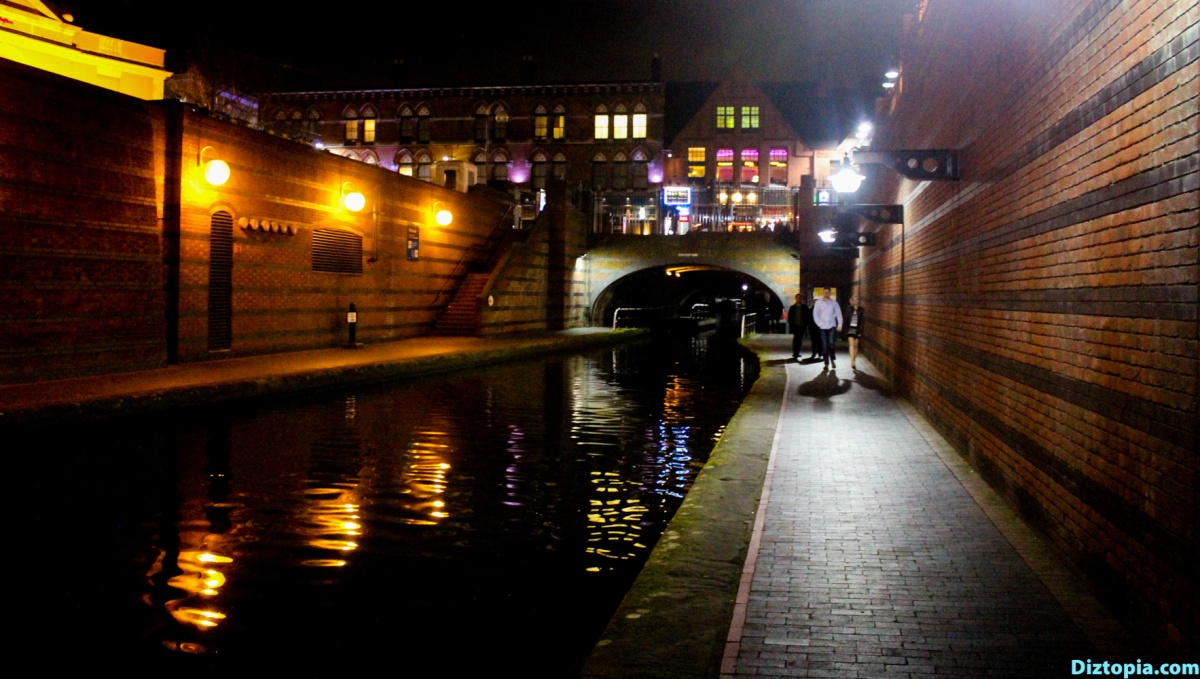 Birmingham Canal at Night (UK)
